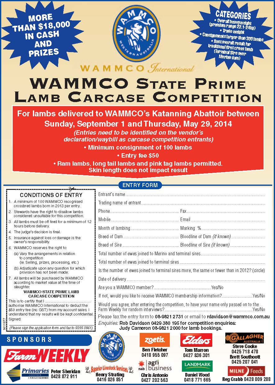 State Carcase Competition is open for entries